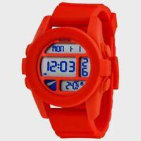 Nixon Unit Red Pepper A197383 Silicon Band Digital Temp Quartz Sport Surf  Watch