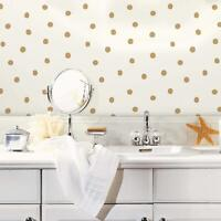 Roommates Ave10462 Gold Dots Peel/Stick Wallpaper Gold Free Shipping