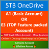 OneDrive 5TB Custom Login✅+ A1 OR👉E3 Subscription TOP Featured Acc🔥.COM Domain