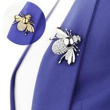 Stunning Crystal & Enamel Honey Bee Brooch Pin Insect Bug Hat Lapel Pin Badge