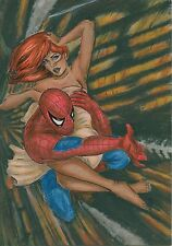A00739 Spiderman Mary Jane by Koval *NOT A PRINT* original art drawing comics