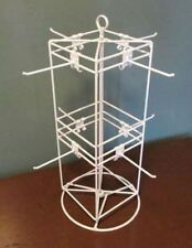 "Counter Top Spinner Display Rack - 4 Sided 8 Peg 6"" x 6"" (White)"