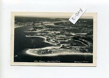 Cape Cod Canal MA Mass RPPC real photo aerial Bourne near railroad bridge
