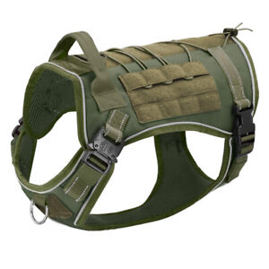 Tactical Dog Harness Reflective K9 Military Molle Dog Vest for Outdoor Training