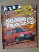 Auto-Journal n°18-83, Ford Orion 1.6 GL, Citroën CX 25 GTI, Peugeot 205 GR. BMW