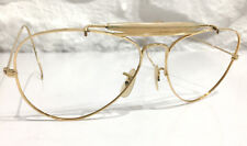 Vintage B & L Ray Ban Gold Aviator Sunglass Frames Excellent 58 14