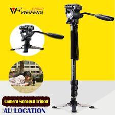 Camera Monopod Tripod Unipod Fluid Head Holder Travel DSLR Camcorder Video DV YT