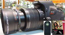 Wide Angle Macro Lens +UV FILTER +REMOTE For Canon t2i xt t3 t3i t4 T5 T5I T2I