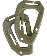 2 Moschettone in Plastica tattico militare Molle scout per agganciare accessori