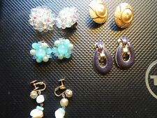 5 Pair of Vintage earrings. Lisner, Puccini, Germany, Made in US & Accessocraft.