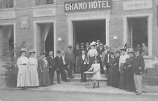 CPA 58 CARTE PHOTO POUGUES LES EAUX GRAND HOTEL GUIMARD