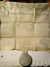 1785 LEEDS Recovery Manuscript Royal Grand Seal Tin ABEL JENKINS Yorkshire