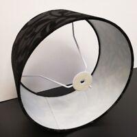 Lampenschirm aus Stoff in Schwarz Höhe rund Ø30cm Stehleuchte Tischleuchte