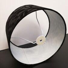 abat-jour en tissu en Noire hauteur Rond O30cm Lampadaire Lampe de table