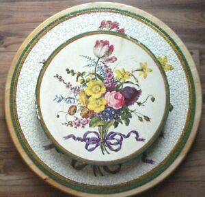 Vintage Springbok BOUQUET OF FLOWERS Circular Puzzle 1965 Complete