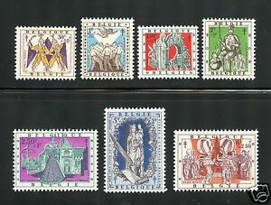 Belgium Complete MNH Set #B612-618 Legends Stamps