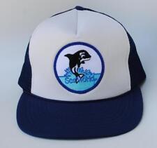 "Vintage ""Sea World"" Shamu Killer Whale Orca Snapback Osfa Baseball Cap Hat"