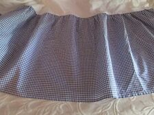 Laura Ashley Polyanthus Blue /White Checked Gathered Twin Bed Skirt