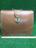 Vintage Doctor's Expandable Medical Bag Brown Leather Apothecary Bag On Wheels 1
