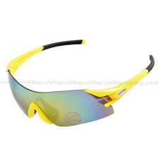 RockBros Cycling Glasses Bicycle Bike Goggles Fishing Running Sunglasses Yellow