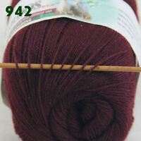Sale 1 Skein x50gr LACE Soft Crochet Acrylic Wool Cashmere hand knitting Yarn 42
