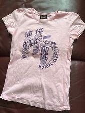 Women's HARLEY DAVIDSON pink T-shirt - New Orleans French Quarter Voodoo design