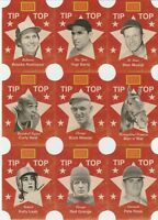 2013 Golden Age Tip Top Bread Labels Set (10) Musial Berra Man O' War Rose Neal