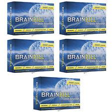 5 BRAINPILL Focus Supplement BOOST Memory Cognizin Synapse factor Brain Pill