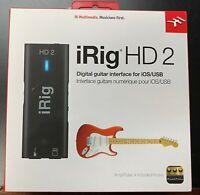 IK Multimedia iRig HD 2 - USB Guitar Interface for Mac/PC/iOS Devices