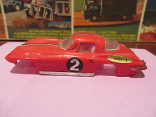 motorific slot car body IDEAL CHEVY CORVETTE red W/ stripe  Toy body only