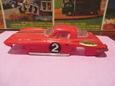 motorific slot car body IDEAL CHEVY CORVETTE red W/ stripe  Toy body only
