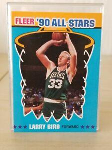 Larry BIRD 1990-91 Fleer '90 ALL-STAR Insert #2 of 12 / Celtics / Mint +