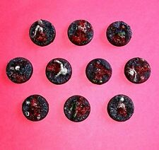 Slaughter 25mm Resin Bases (10) Player Created Custom Corpse Strewn Chaos