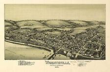 Wrightsville PA c1894 map 36x24