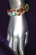 Women's Fashion Jewelry hand- painted  gold  multi -  expandable  bracelet