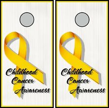Childhood Cancer Awareness 0478 cornhole board vinyl wraps stickers poster skins