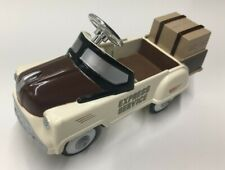NIB Pedal Power Die Cast Metal Express Service Vehicle Miniature 1:10 Pedal Car