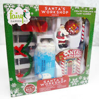 Arcadia's Christmas FAIRY GARDEN KIT Santa's Workshop Snow Village Accessories!