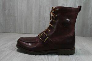 56 Polo Ralph Lauren Smooth Oil Ranger Boots Oxblood Mens Shoes 10.5 D 11.5 D