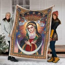 Maria Our Lady Of The Gate Of Dawn Sherpa Blanket