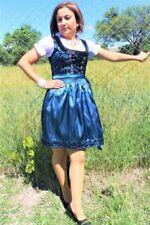 NEW!Germany,German,Trachten,May,Oktoberfest,Dirndl Dress,3-pc.Sz.14,Blue Black