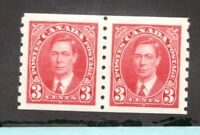 #240  Canada George VI - 1937 - 3 Cent stamp MH  - VF - superfleas