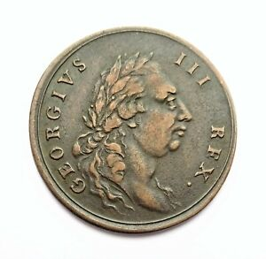 Middlesex National Series Halfpenny Token George III Lost To Britannia's Hopes