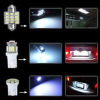 Auto LED Lumière Paquet Intérieur Carte Festoon Dome Plaque immatriculation T10