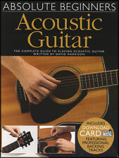 Absolute Beginners Acoustic Guitar TAB Book with Audio Learn How To Play Method
