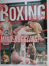 Boxing News 18 July 1997 Lewis ,Andy Roberts Dave Coldwell Starie Hamed Lueshing