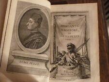 Pulci, Luigi, Il Morgante Maggiore. 1768 3 volumes