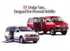 1995 Dodge Ram and Caravan Mobility Conversion Van Original Car Sales Brochure