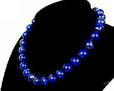 Natural 10mm Egyptian Lapis Lazuli Necklace AAA