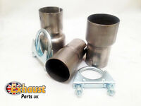 Exhaust Pipe Connector 56mm to 59.5mm x 90mm Tube Clamp Sleeve Adaptor Coupler